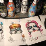 diego-bormida-bozzetto-santero-958-santero958-958santero-design-gf-gfvip-bottigliedipinte-artista-handmade-sketches-luxury