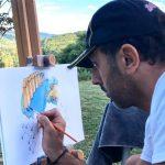 Diego-Bormida-Artist-tshirt-Covid-19-dipinto-beneficenza-ospedale-acqui-alessandria-italia-01