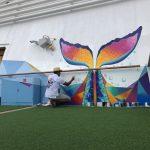 Caribbean Princess Cruises Diego Bormida Artist mural resin dipinti (147)