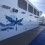 Sky Princess Cruises Diego Bormida Artist Mural Instagram wall (1)