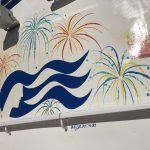 Sky Princess Cruises Diego Bormida Artist Mural Instagram wall (7)